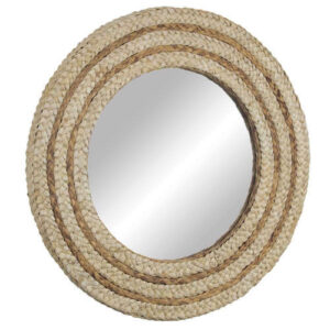 Woven Rattan Accent Wall Mirror