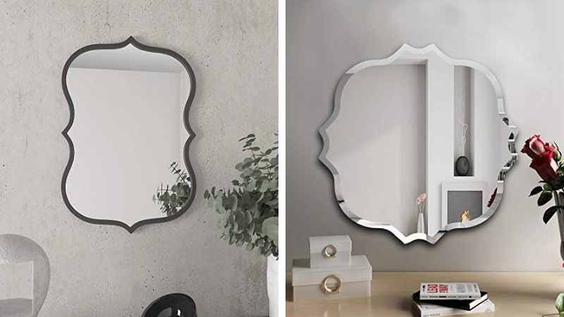 odd shaped wall mirrors featured image