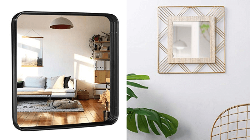 square wall mirrors featured image