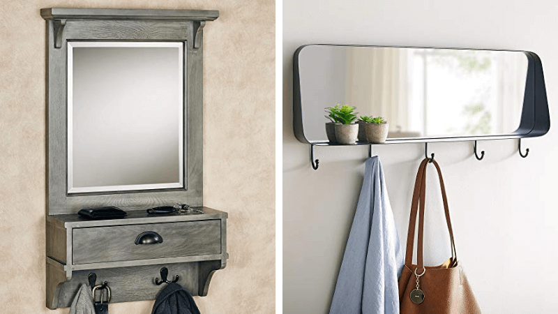 wall mirrors with shelves featured image