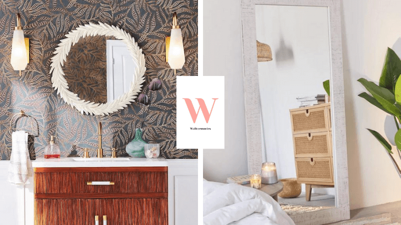 best white framed wall mirrors featured image