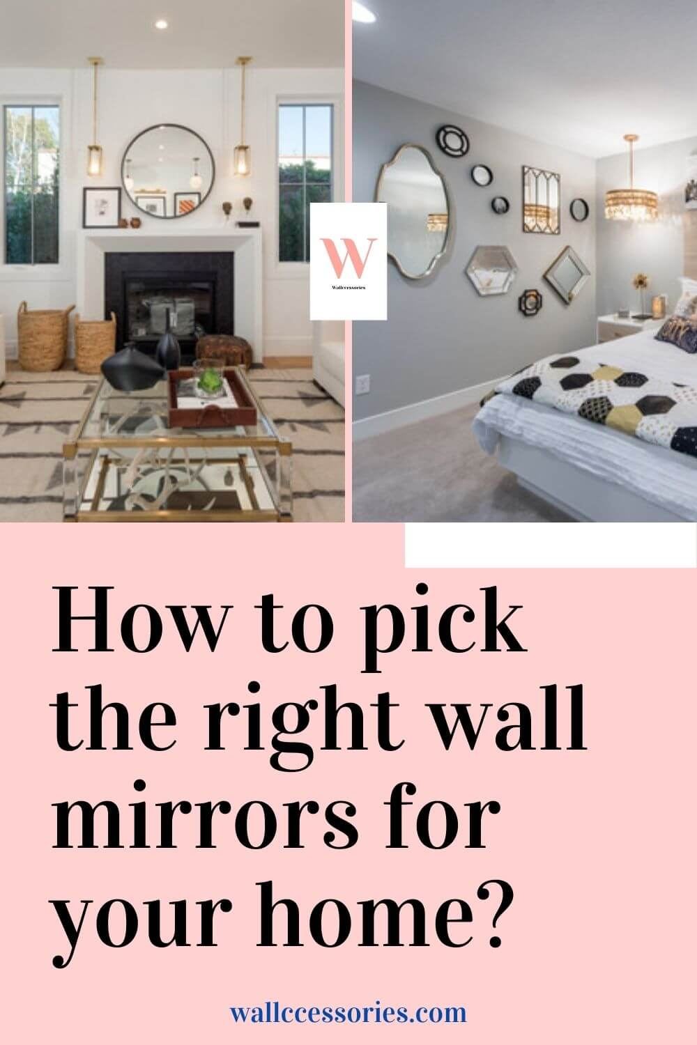 how to pick the right wall mirror pinterest