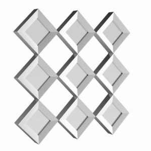 Silver Orchid Olivia Mirrored Squares Wall Sculpture details