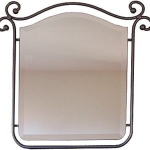 Suspended Beveled Wrought Iron Mirror (1)