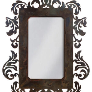 Wrought Iron Mirror Damask Style Mirror With Rust Patina