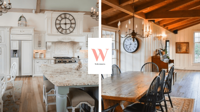 best rustic farmhouse wall clocks featured image