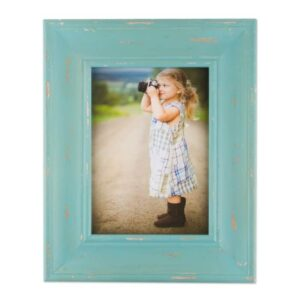4x6 Distressed Blue Farmhouse Picture Frame