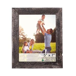 9_x10_ Rustic Smoky Black Grey Picture Frame