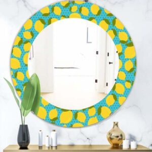Designart-'Lemon-Pattern'-Bohemian-and-Eclectic-Mirror-Oval-or-Round-Wall-Mirror