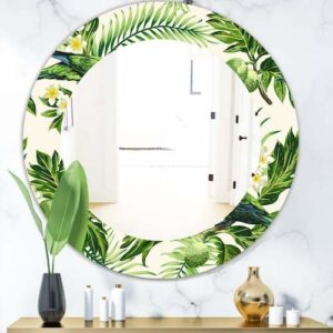 Designart-Tropical-Leaves-Green-Bohemian-and-Eclectic-Mirror-Oval-or-Round-Wall-Mirror-Gold