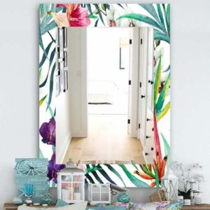 Designart-'Tropical-Mood-Bright-8'-Bohemian-and-Eclectic-Mirror