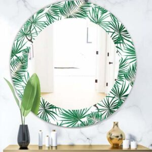 Designart-Tropical-Mood-Foliage-12-Bohemian-and-Eclectic-Mirror-Oval-or-Round-Wall-Mirror