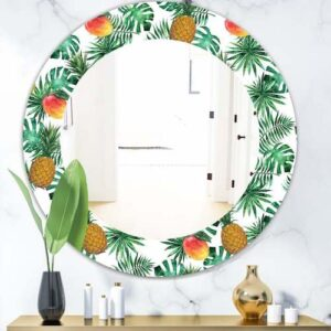 Designart-Tropical-Mood-Foliage-7-Bohemian-and-Eclectic-Mirror-Oval-or-Round-Wall-Mirror-Green