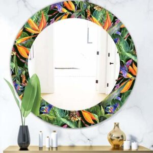 Designart-Tropical-Mood-Gloomy-1-Bohemian-and-Eclectic-Mirror-Oval-or-Round-Wall-Mirror-Green