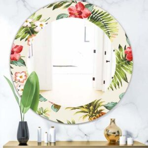 Designart-Tropical-Mood-Pineapple-7-Bohemian-and-Eclectic-Mirror-Frameless-Oval-or-Round-Wall-Mirror