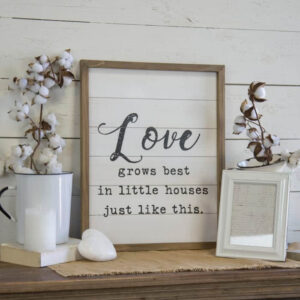 Love Grows Wall Sign