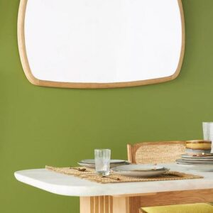 kalle mirror natural oil color organic shaped