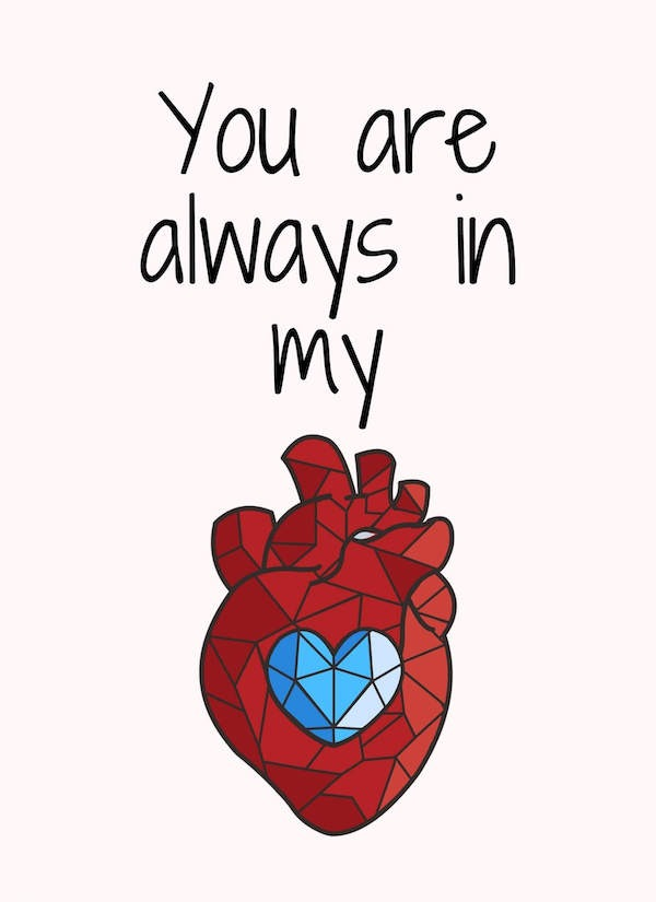 You are always in my heart wall art