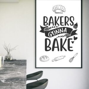 bakers gonna bake kitchen wall art product image 1