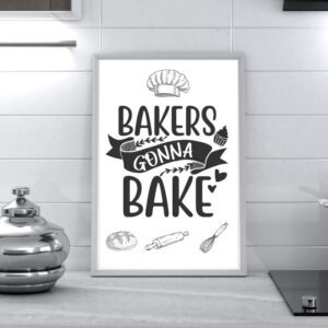 bakers gonna bake kitchen wall art product image 2