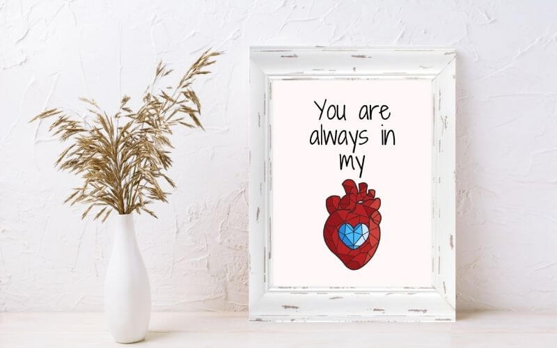 you are always in my mind wall art mockup