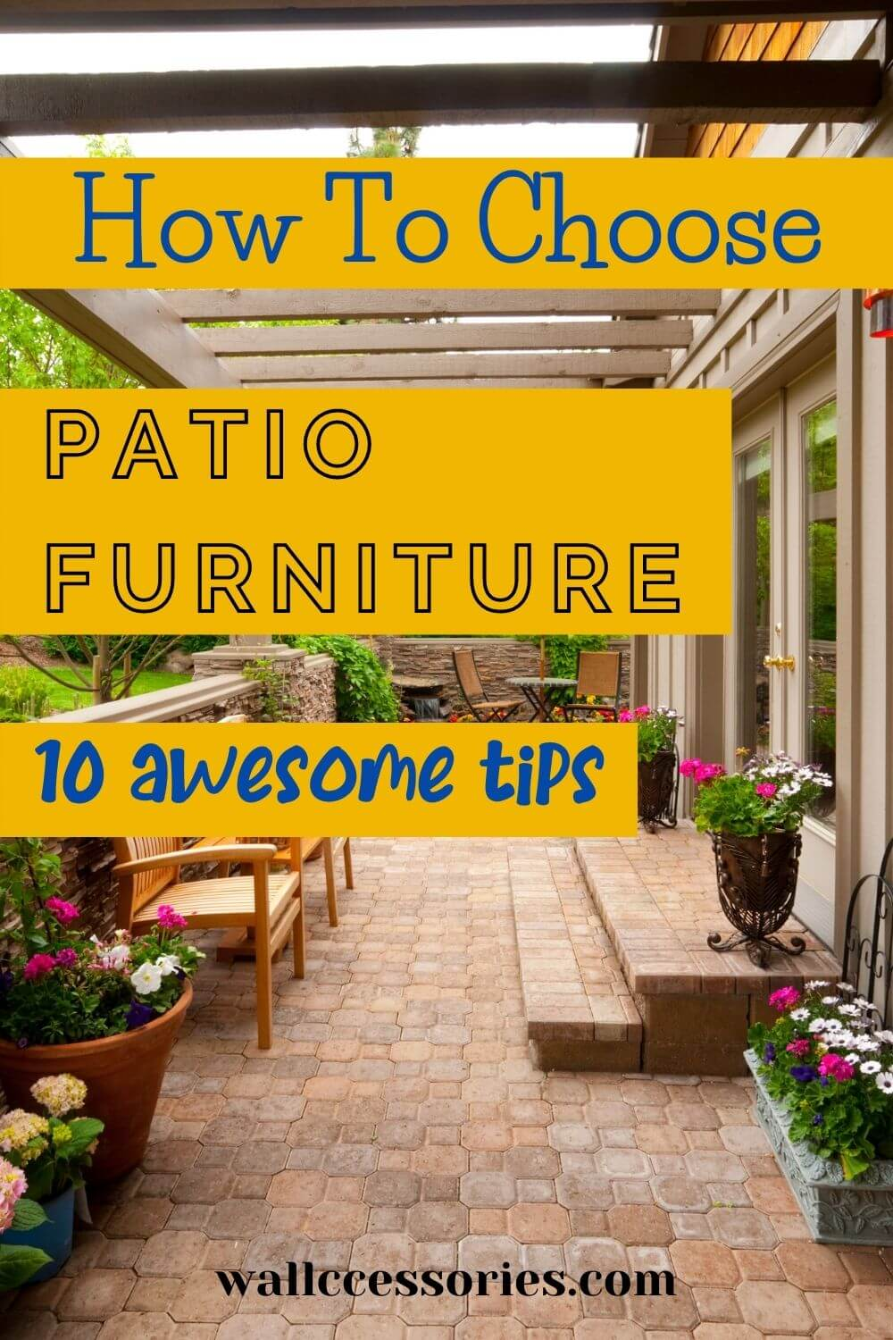 how to choose patio furniture pinterest