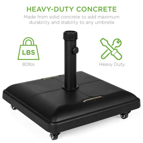Best Choice Products 81lb. Heavy Duty Concrete Umbrella Base Stand review