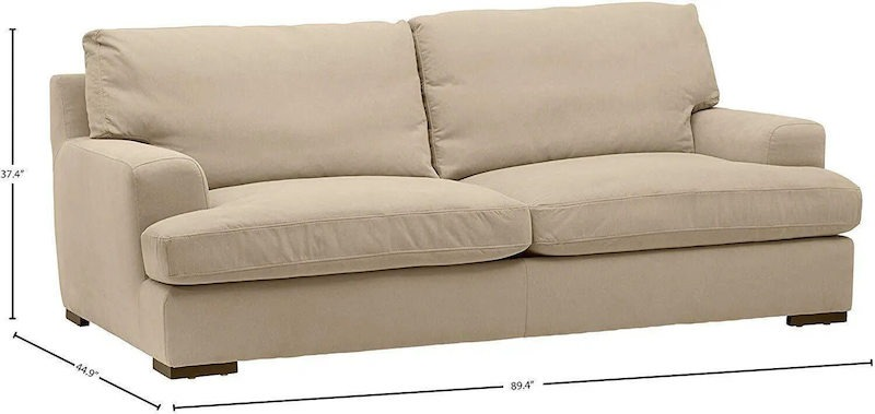 stone and beam lauren down filled oversize sofa 89 inches