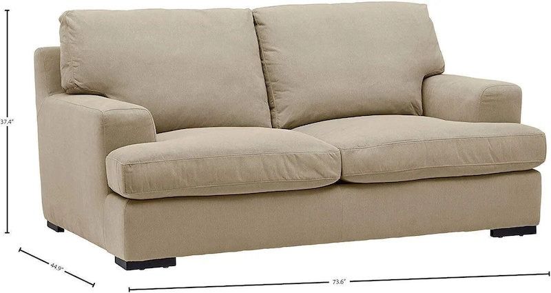 stone and beam lauren down filled oversized sofa 74 inches